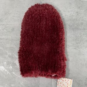 Free People Berry Head in the Clouds Fuzzy Beanie